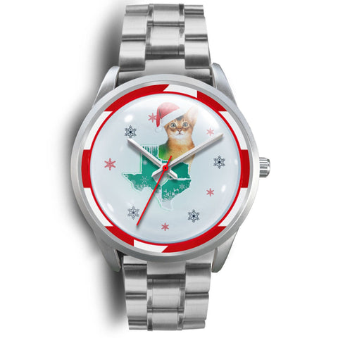 Abyssinian Cat Texas Christmas Special Wrist Watch-Free Shipping