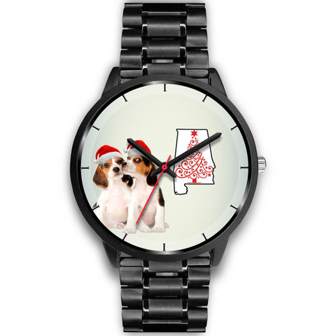 Beagle Dog On Christmas Alabama Wrist Watch-Free Shipping