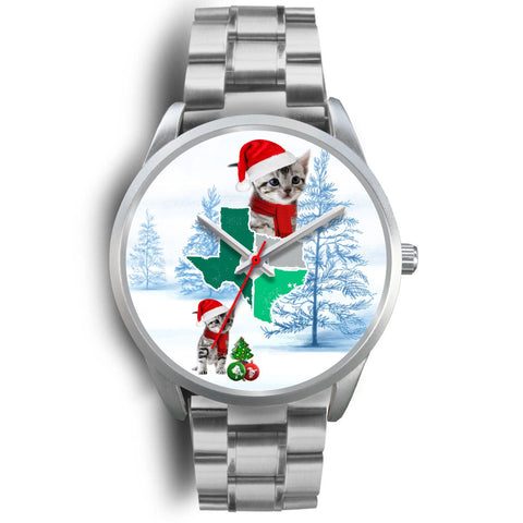 American Shorthair Cat Texas Christmas Special Wrist Watch-Free Shipping