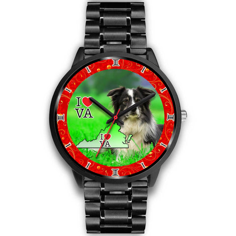 Border Collie Dog Virginia Christmas Special Wrist Watch-Free Shipping