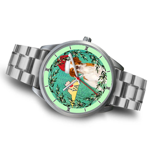 Brittany Dog Virginia Christmas Special Wrist Watch-Free Shipping
