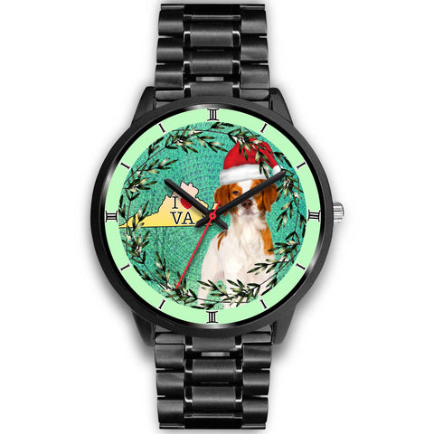 Lovely Brittany Dog Virginia Christmas Special Wrist Watch-Free Shipping
