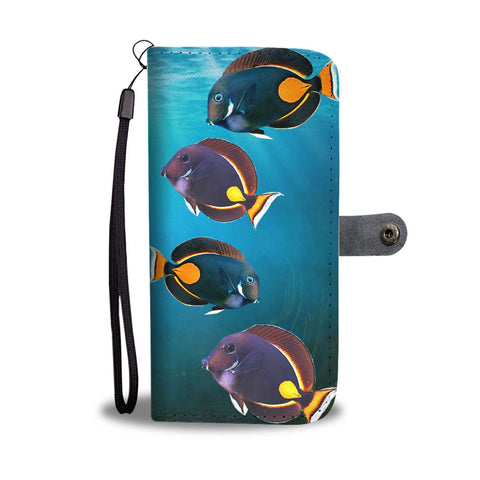 Achilles Tang (Acanthurus Achilles) Fresh Water Fish Print Wallet Case-Free Shipping