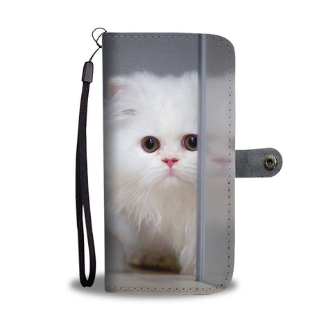 White Persian Cat Wallet Case- Free Shipping