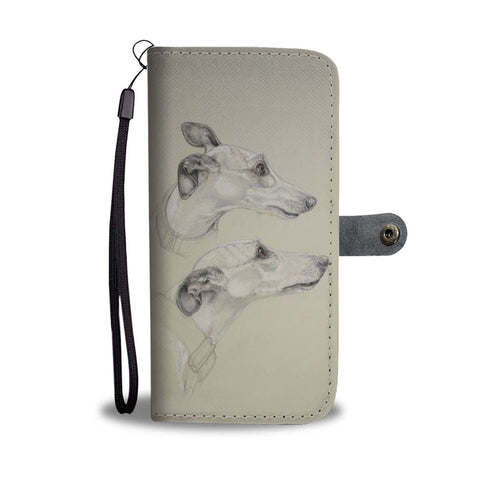 Amazing Whippet Dog Print Wallet Case-Free Shipping