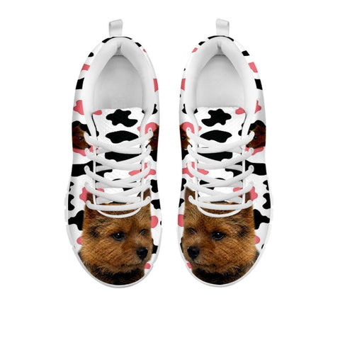 Amazing Norwich Terrier With Clipart Print Running Shoes For Women-Free Shipping-For 24 Hours Only-Paww-Printz-Merchandise