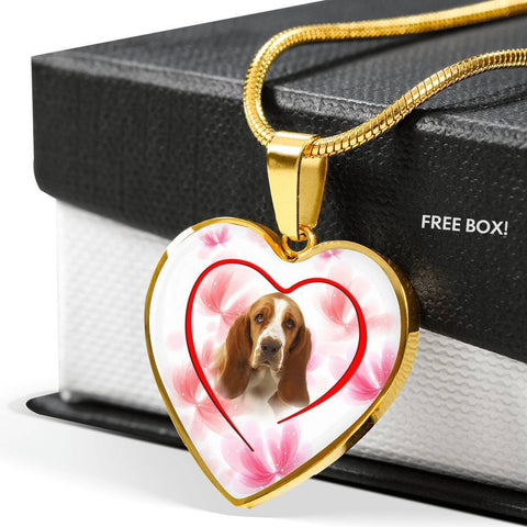 Basset Hound Print Luxury Necklace -Free Shipping