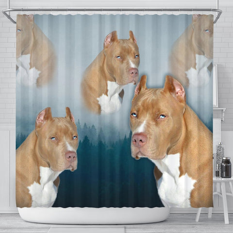 Pit Bull Print Shower Curtains- Free Shipping