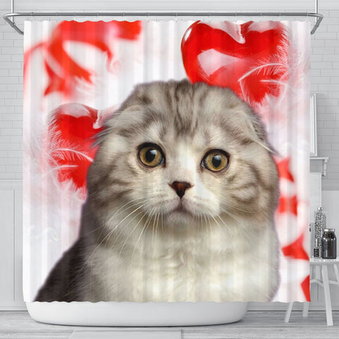 Scottish Fold Cat Print Shower Curtains-Free Shipping