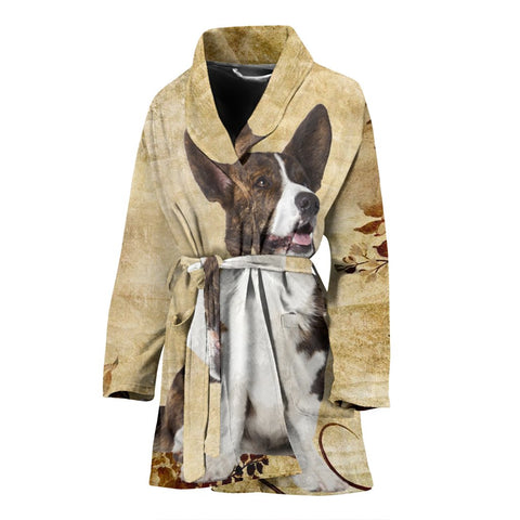 Cardigan Welsh Corgi Print Women's Bath Robe-Free Shipping