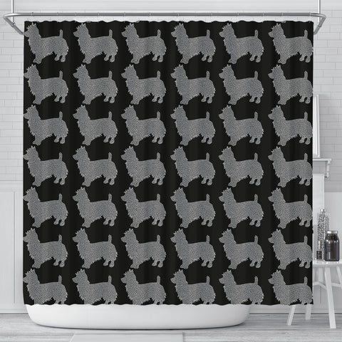 Australian Terrier Dog Pattern Print Shower Curtains-Free Shipping