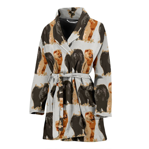 Amazing Chow Chow Dog Patterns Print Women's Bath Robe-Free Shipping