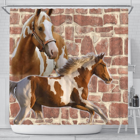 American Paint Horse Print Shower Curtains-Free Shipping