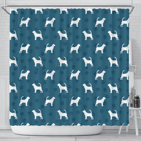Bloodhound Dog Paws Print Shower Curtains-Free Shipping
