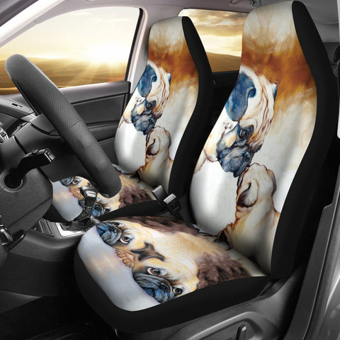 Love Pug mother&puppy Print Car Seat Covers- Free Shipping