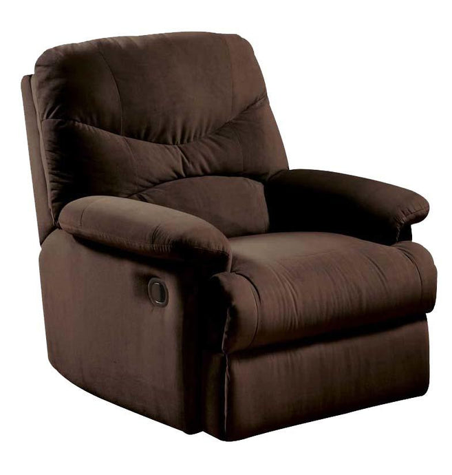 Acme 00635 Arcadia Chocolate Microfiber Glider Recliner Chair