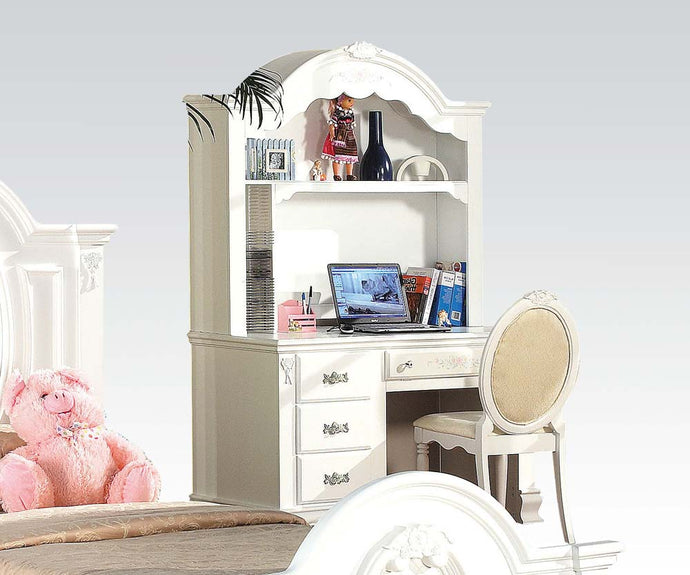 Acme Flora White Student Desk with Hutch