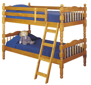 Acme 02301 Homestead Oak wood Twin Twin Bunk Bed