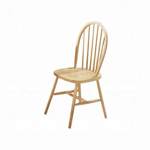 Acme Farmhouse Natural Wood Finish 2 Piece Dining Chair