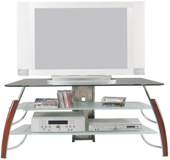 Acme Martini Glass Top TV Stand with Shelves