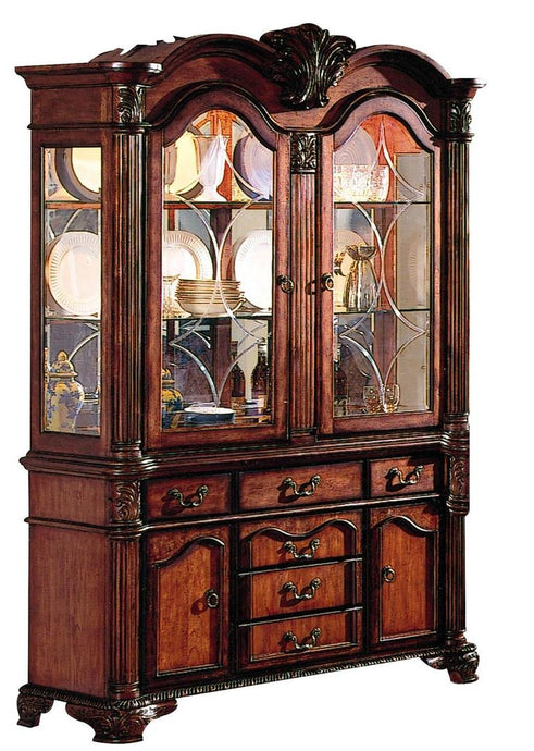 Acme 04079 Chateau De Ville Cherry Hutch Buffet China Cabinet