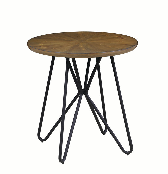 Homy Living Churchill Brown And Black Wood Metal Finish End Table