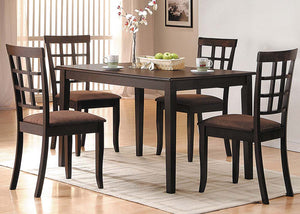 Acme 06850 Cardiff 5 Pieces Espresso wood Dining table Set
