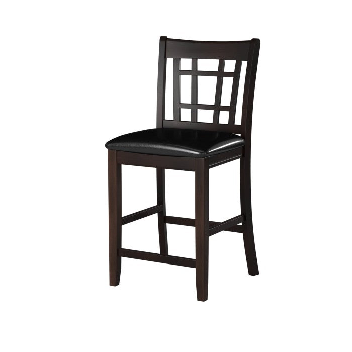 Homelegance Junipero Cherry Wood Finish 2 Piece Counter Height Dining Chair