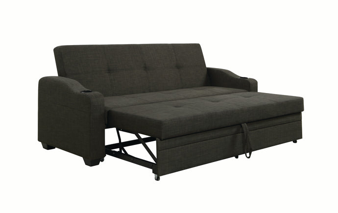 Homy Living Miller Charcoal Fabric Finish Sofa Bed