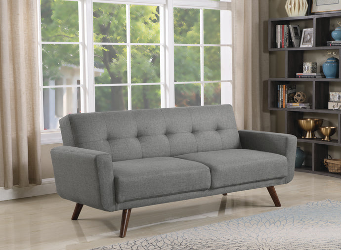Homy Living Hilda Gray Fabric And Wood Finish Sofa Bed