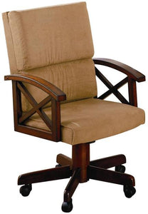 Coaster Tobacco Upholstered Arm Game Chair