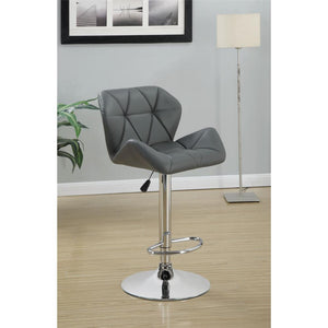 Coaster Gray Adjustable Stool w/ Chrome Base Set of 2