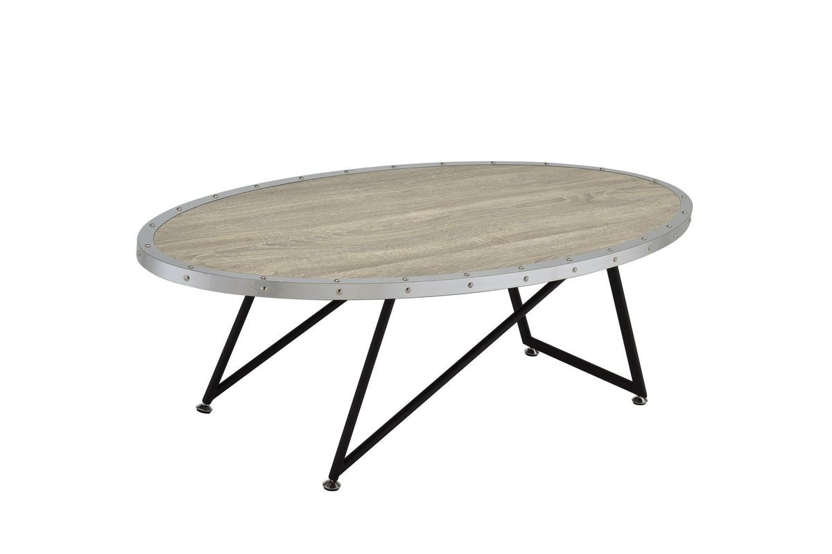 Acme Allis Weathered Gray Oak Coffee Table