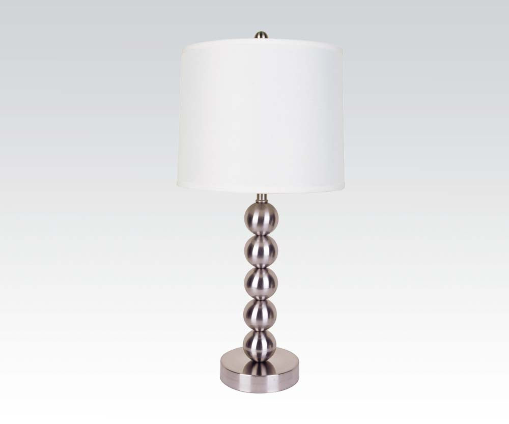 Acme Contemporary Metal Orb Base Table Lamp