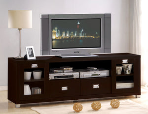 Acme Commerce Espresso TV Stand with Drawers Doors