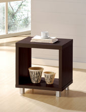 Load image into Gallery viewer, Acme Redland Espresso Wood And Nickel Finish End Table
