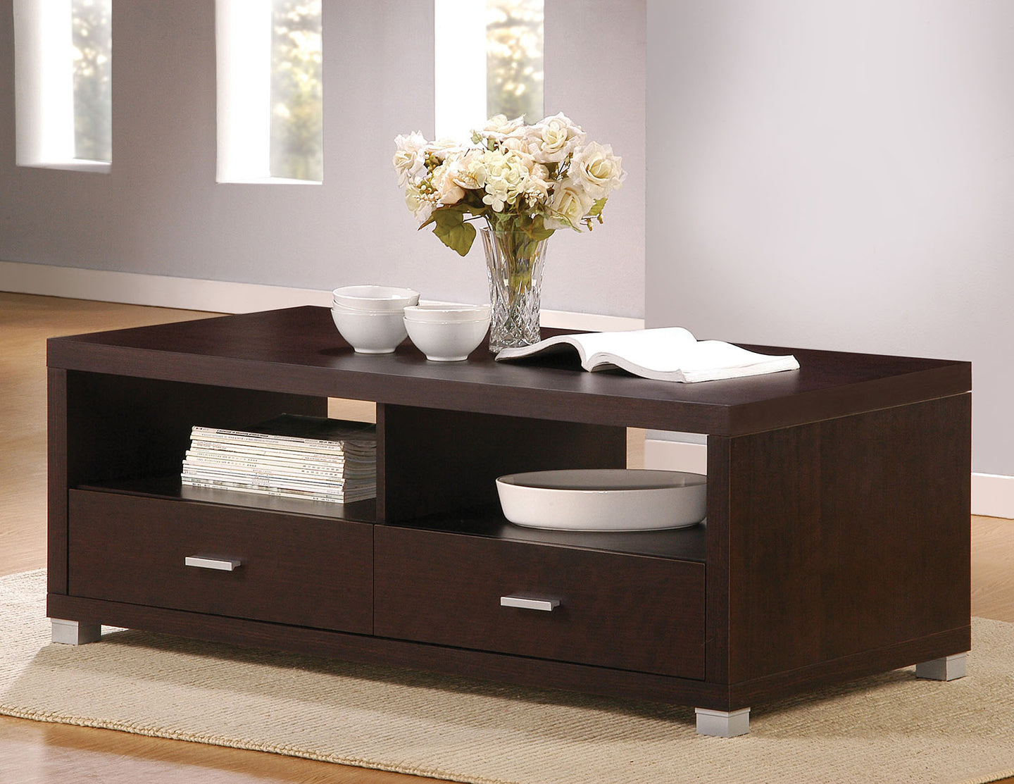 Acme 06612 Tustin Espresso Coffee Table with Drawers