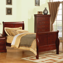 Load image into Gallery viewer, Acme Louis Philippe III Cherry Twin Bed