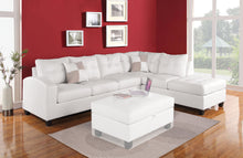 Load image into Gallery viewer, Acme 51175 Kiva White Bonded Leather Reversal Sectional Sofa Set