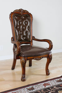 Acme 12170 Dresden Cherry Oak Wood Finish Traditional Office Chair