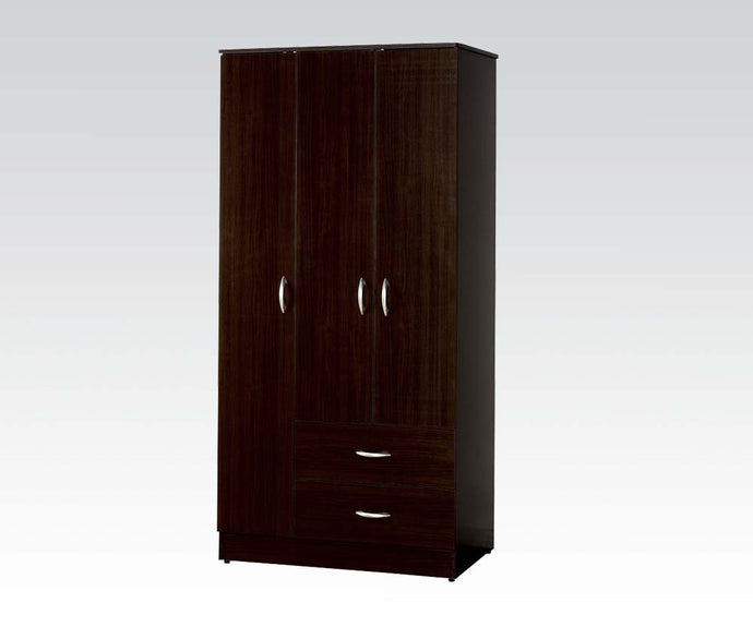 Acme 12248 Olean Espresso 3 Doors and Drawers Wardrobe