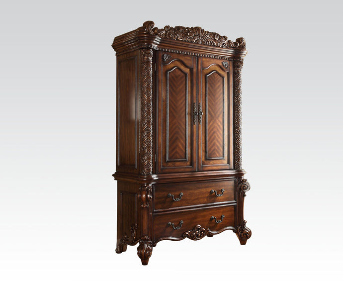 Acme 22007 Vendome Traditional Cherry Doors Drawers TV Armoire