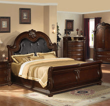 Load image into Gallery viewer, Acme Anondale Traditional Cherry King Sleigh Bed