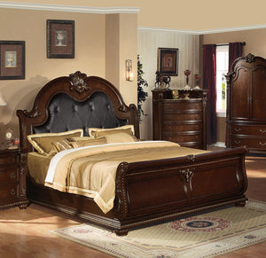 Acme Anondale Traditional Cherry King Sleigh Bed