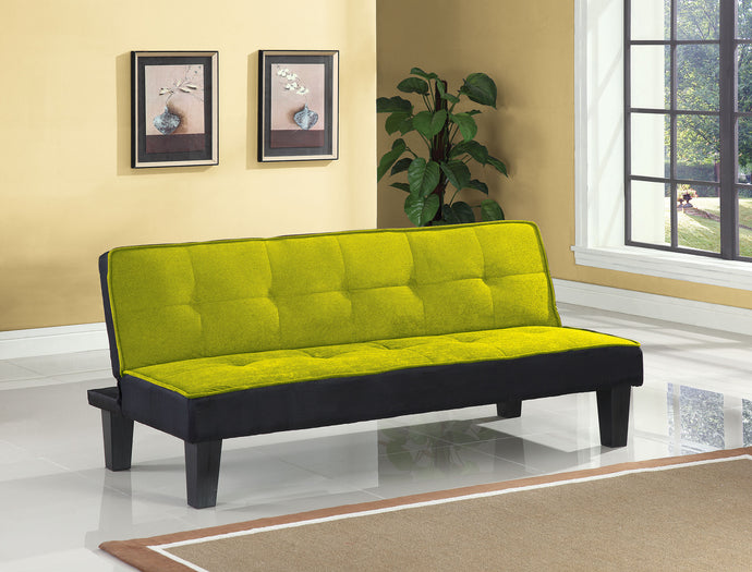 Acme 57039 Hamar Green Flannel Fabric Adjustable Sofa Bed Futon