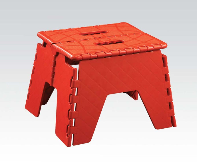 Acme Stern Red Foldable Step Stool