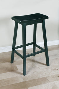Acme Gaucho Black Wood Finish 2 Piece Height Bar Stool