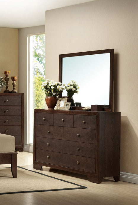Acme Madison Espresso -Drawer Dresser and Mirror