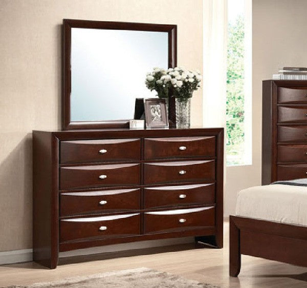 Acme Ireland Espresso -Drawer Dresser and Mirror