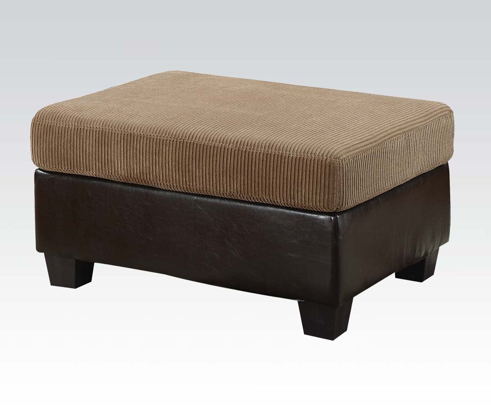 Acme Connell Contemporary Light Brown Ottoman